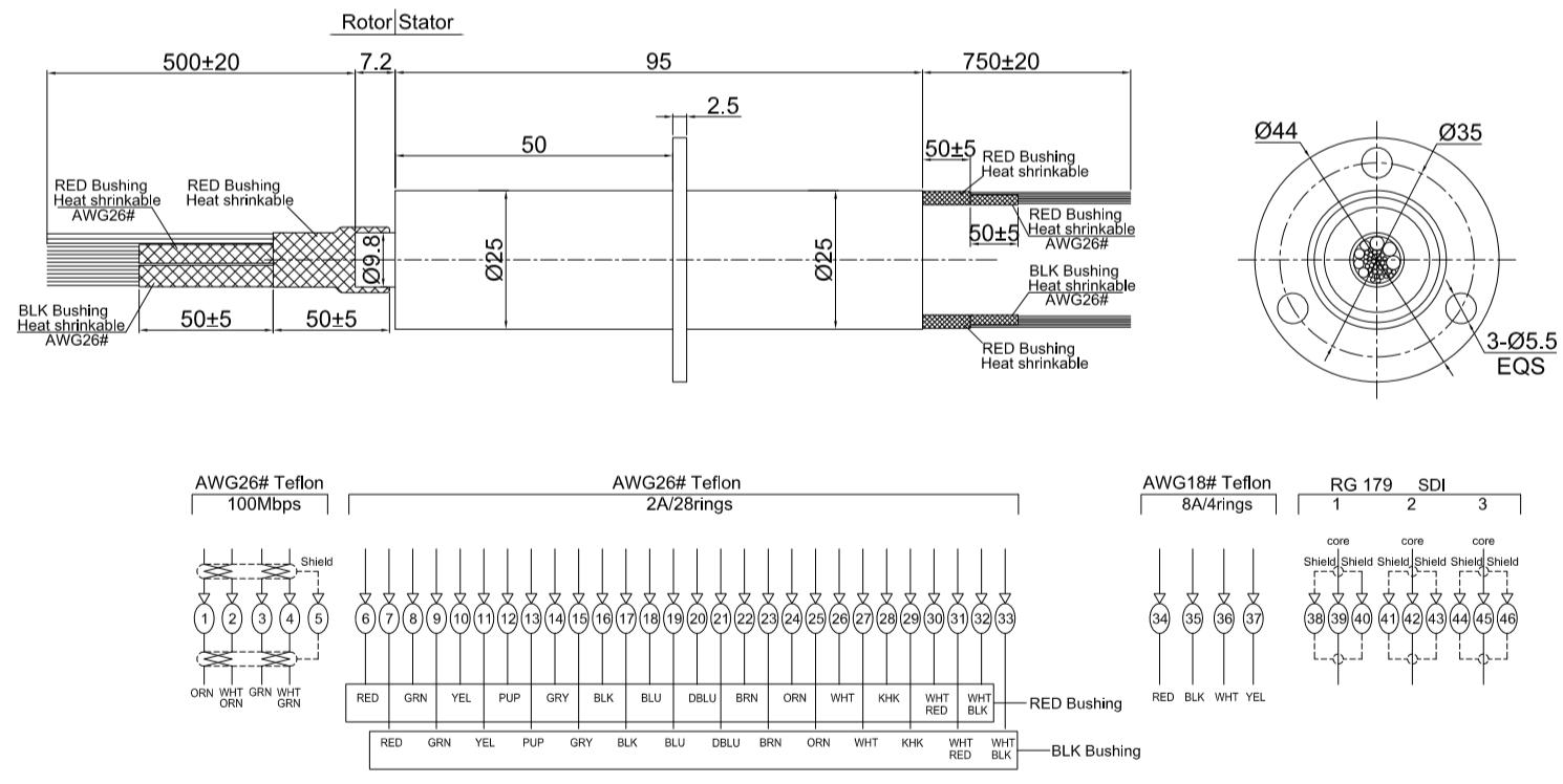 DHM025-4P-28S-3RF drawing