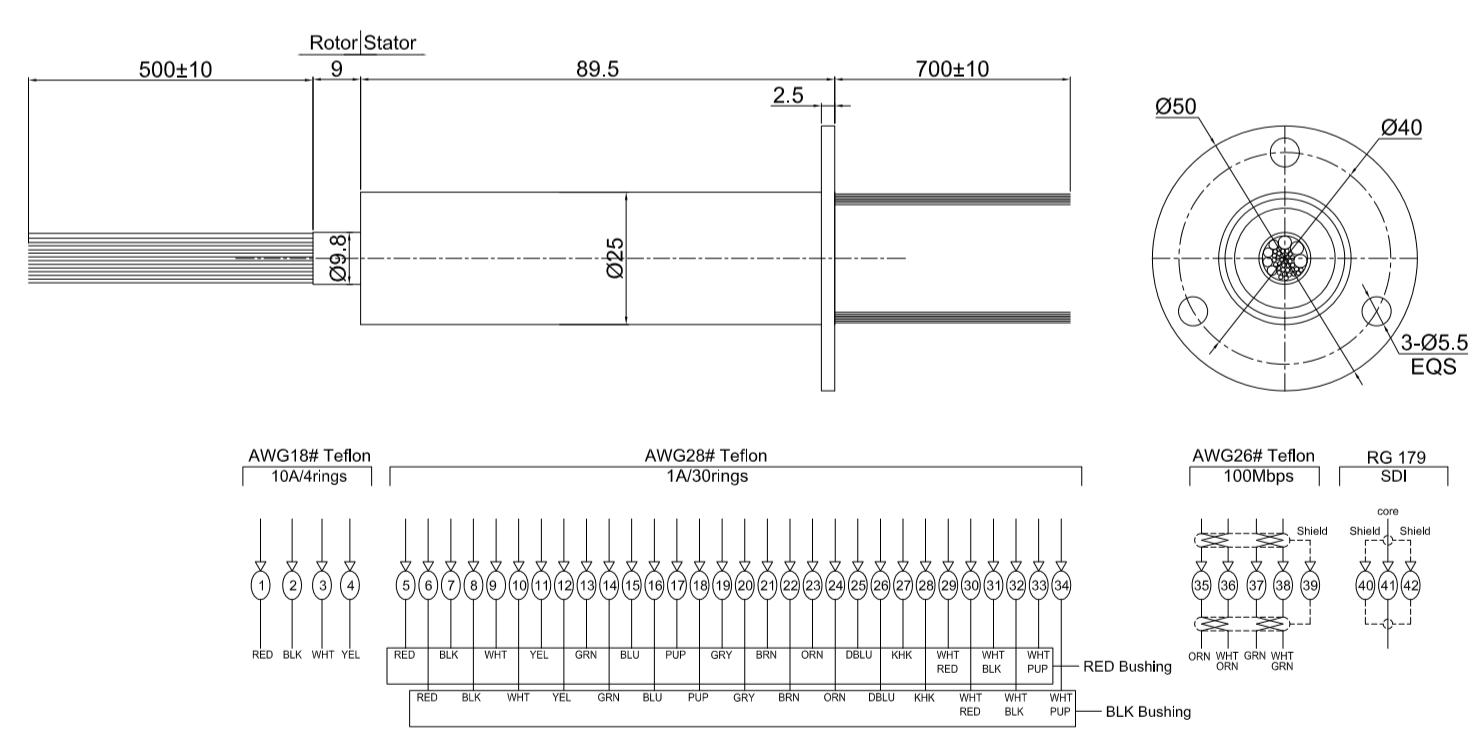 DHM025-4P-30S-1RF drawing