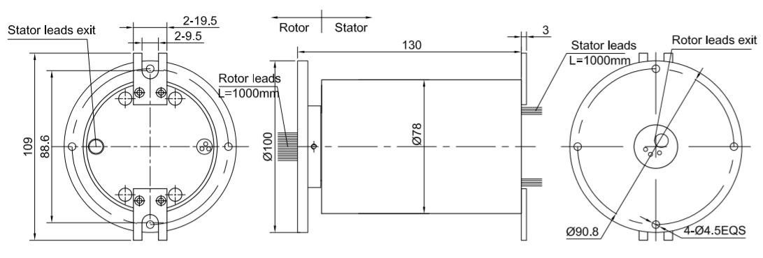 DHT078-3P-1HD drawing