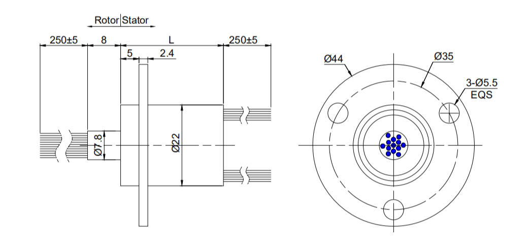 Ethernet slip ring draw