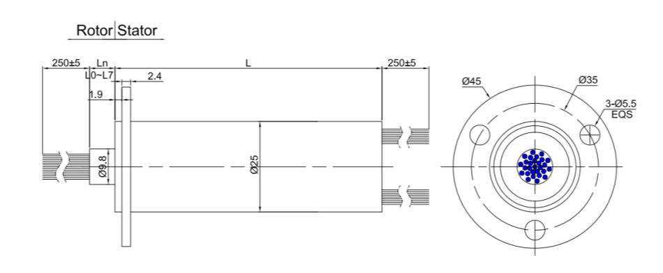 Ethernet slip ring draw