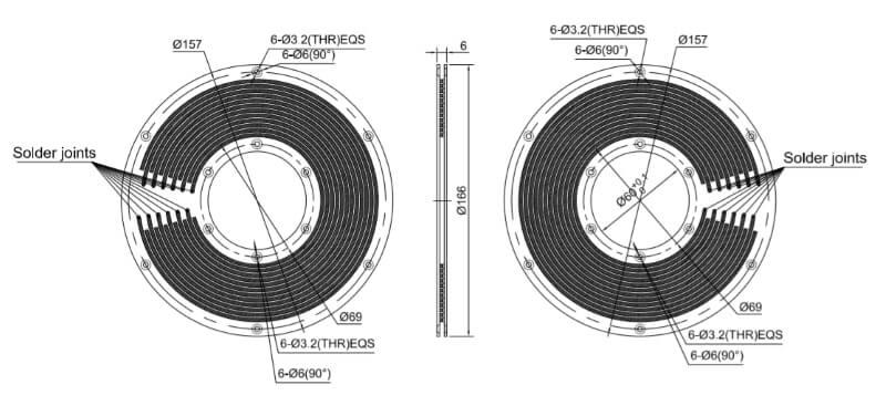PCB slip ring HPC060-12