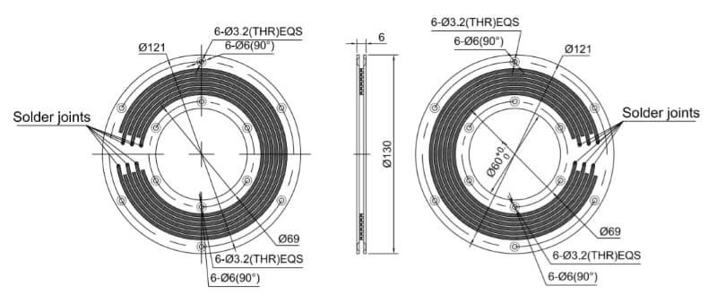 PCB slip ring HPC060-6