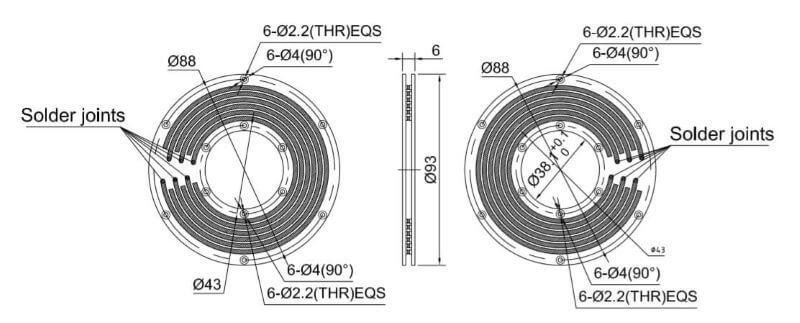 PCB slip ring draw