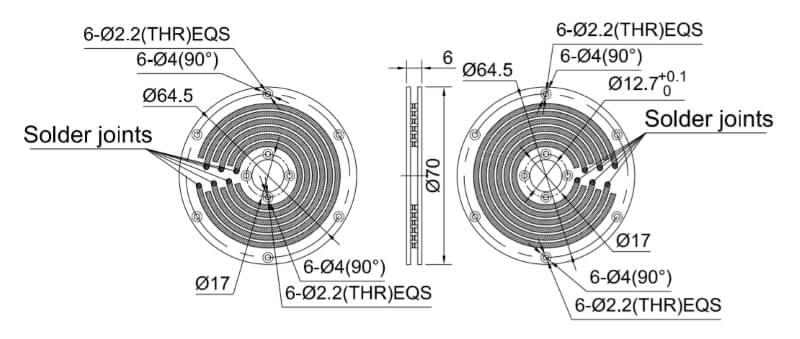 PCB slip ring drawing
